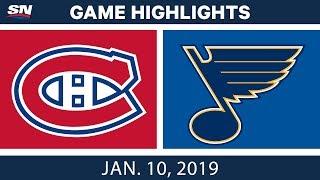 NHL Highlights | Canadiens vs. Blues - Jan. 10, 2019