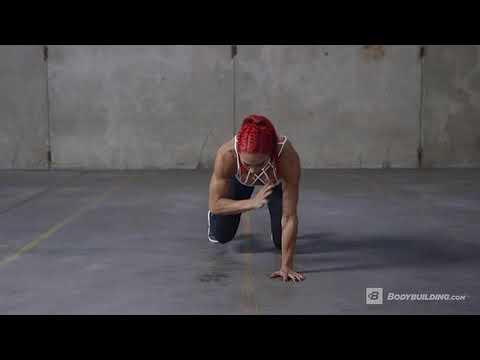 Bear Crawl Shoulder Tap  Exercise Videos & Guides  Bodybuilding com