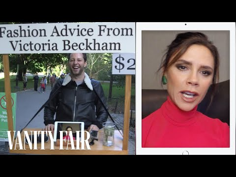 , title : 'Victoria Beckham Gives Strangers Fashion Advice for $2 in Central Park | Vanity Fair'