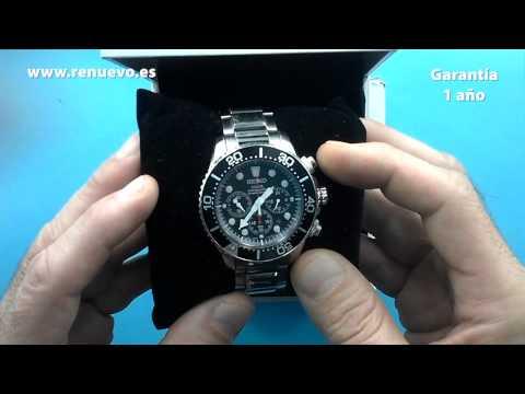 Reloj SEIKO Solar Divers Chronograph SSC015P1 de segunda mano E244406