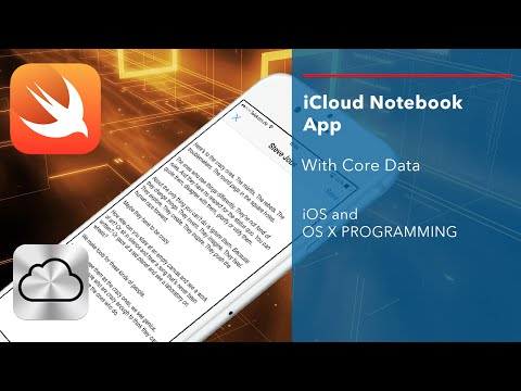 iOS Swift Tutorial: iCloud Notebook App with CoreData