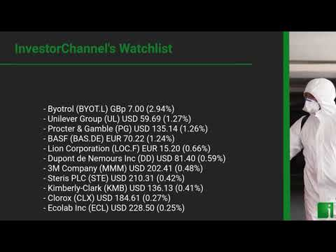 InvestorChannel's Disinfection Watchlist Update for Thursday, May, 06, 2021, 16:00 EST