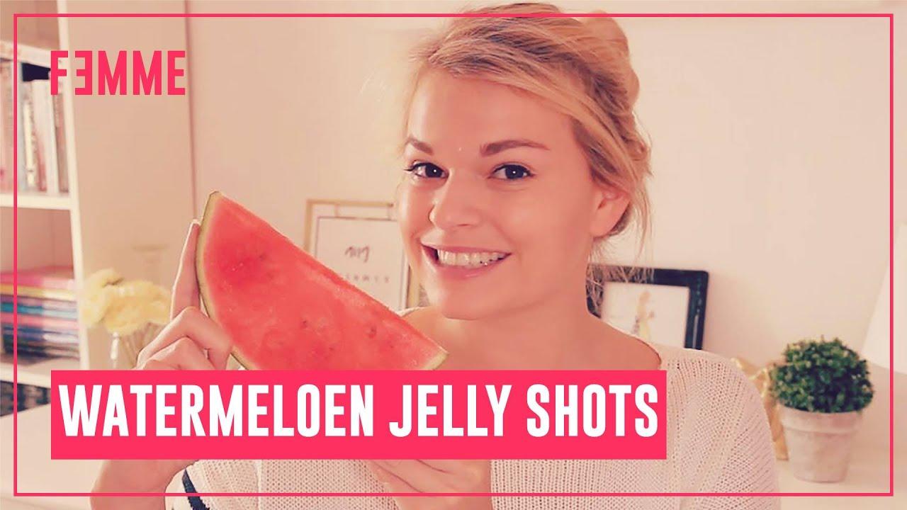 Femme ♥ Watermeloen Jelly shots