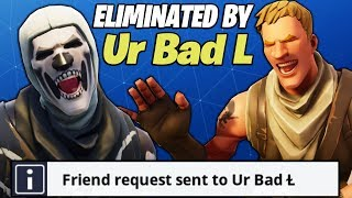 I BECAME FRIENDS WITH A FAKE NOOB AFTER HE MADE ME RAGE ON FORTNITE!! (HE CARRIED ME)
