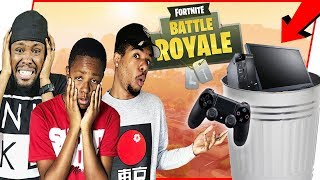 PC FORTNITE PLAYERS TRY CONSOLE FOR THE FIRST TIME! - FortNite Battle Royale Ep.116