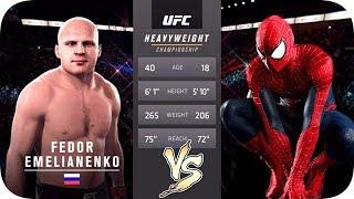 UFC 2 БОЙ Федор Емельяненко vs Человек Паук (com.vs com.)