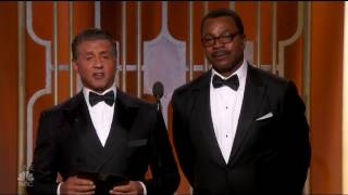 <b>Sylvester Stallone And Carl Weathers Rocky And Apollo The Golden Globes 2017</b>