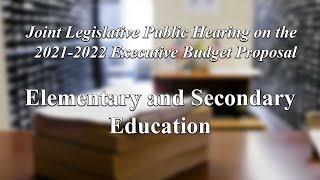 Joint Legislative Public Hearing on 2021 Exec. Budget Proposal: Education - 1/27/21