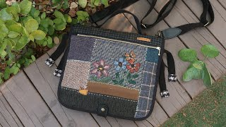 퀼트가방 만들기 (with 애플톤 울사)│Embroidery Wool Patchwork Quilted Bag │ How To  Make DIY Crafts Tutorial