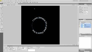 How to bend text around an object