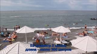 Канализационная труба плавает в море у пляжа в Адлере 23.06.2017 года