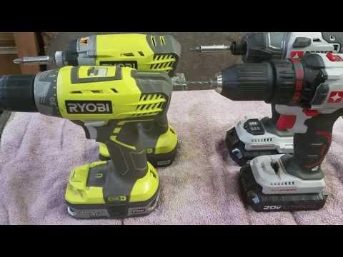Ryobi vs. Porter Cable cordless drill drivers