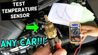 HOW TO TEST COOLANT TEMPERATURE SENSOR. Any Car