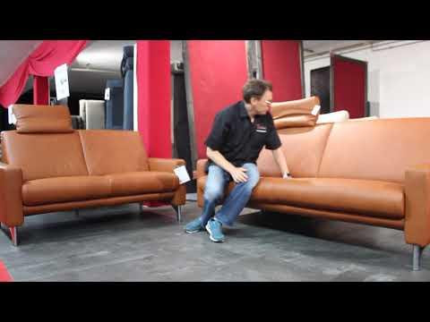 W.SCHILLIG  24970   Sofagruppe N90 N70  Leder Z 69 50 cognac