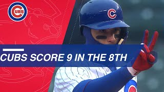 Cubs Come Back With Nine Run 8th Inning