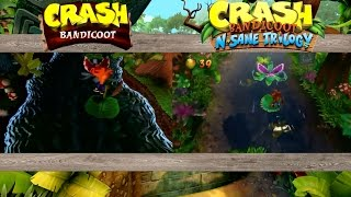 Crash Bandicoot N. Sane Trilogy  - Upstream ORIGINAL VS NEW: PS1 VS PS4 COMPARISON!