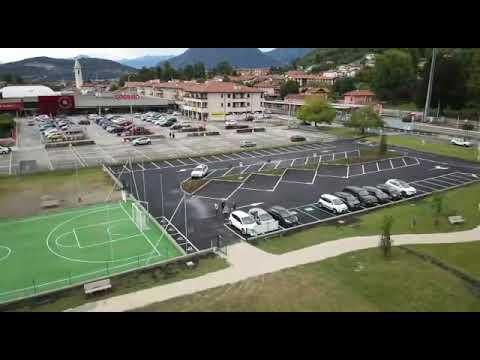 Il Parco dell'amicizia di Cocquio Trevisago visto dall'alto