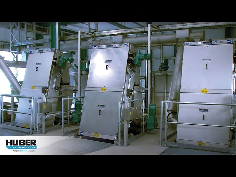 Video: HUBER Coanda Grit Washing Plant RoSF  at a municipal WWTP