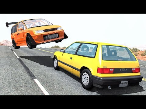 High Speed Traffic Crashes #15 - BeamNG Drive | CrashBoomPunk