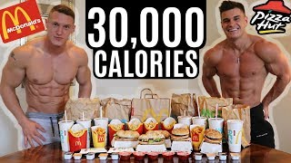BODYBUILDERS vs 30,000 CALORIE CHALLENGE | Epic Cheat Day