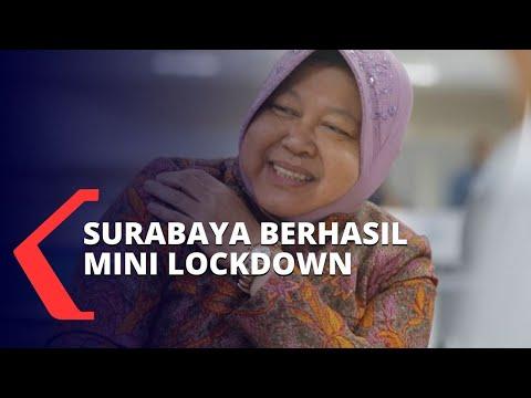 digaungkan jokowi risma sebut surabaya berhasil terapkan mini lockdown