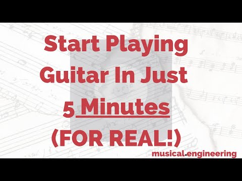 A video off my education blog, Musical.Engineering , which outlines how you can start playing guitar in just 5 minutes!