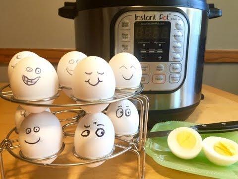 Instant Pot  Hard cooked Eggs ~ Stackable Egg Steamer Rack Trivet