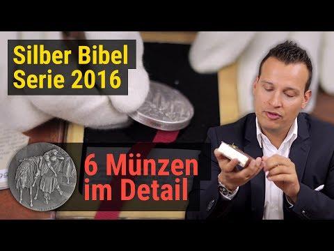 Besondere Silbermünzen 🔆 6 Münzen Set 🔆 Silber Bibel Serie 2016