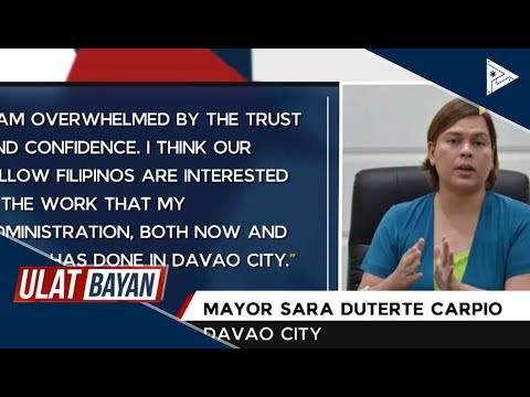 [PTV]  Sara Duterte-Carpio, ika-5 sa senatorial survey