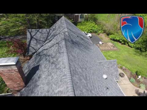 This amazing home in Frontenac MO was damaged by hail. The homeowner was very pleased with their new roof! Call today for a free estimate!