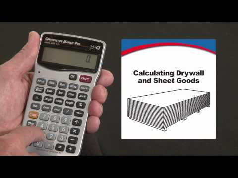 Construction Master Pro - Calculating Drywall and Sheet Goods