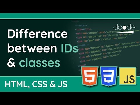 What's the difference between IDs & Classes? | HTML, CSS & JavaScript