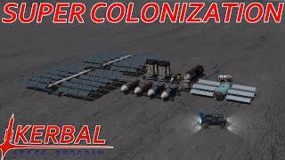 [10] Super Base Construction   Modded KSP : Super Colonization