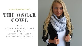 How To Crochet: Moss Stitch Cowl Or Infinity Scarf