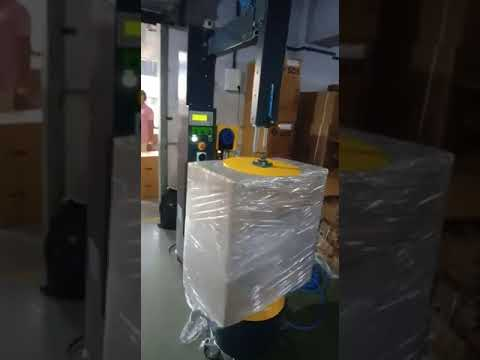 Automatic Box Stretch Wrapping Machine With Top Press