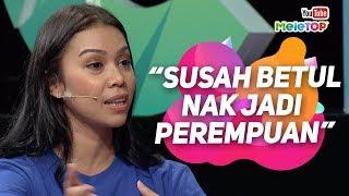 Gambar cover Susah jadi perempuan kata Sharifah Sakinah dalam Selafaz Cinta   MeleTOP   Tya Ariffin & Nabil