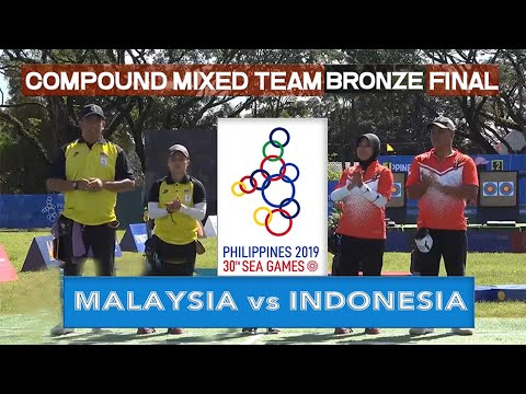 MALAYSIA vs INDONESIA | Compound Mixed Team Bronze Final | ARCHERY SEA GAMES 2019