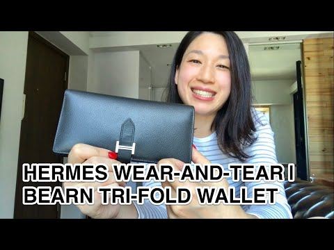 HERMES WEAR-AND-TEAR | BEARN TRI-FOLD WALLET