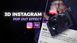 Pop Out 3D Effect On Instagram | After Effects Tutorial [Free Project File]