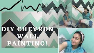 DIY Chevron Wall Painting