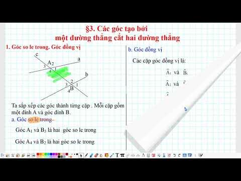 §3. Các góc tạo bởi một đường thẳng cắt hai đường thẳng