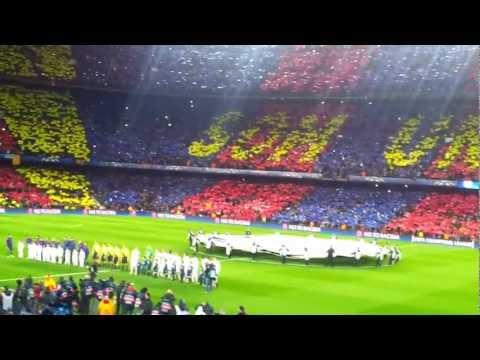 Champions League 2013 - F.C. Barcelona A.C. Milan - Momentos previos al inicio del partido