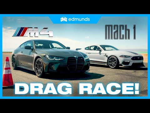 Drag Race! Ford Mustang vs. BMW M4 | V8 vs. Turbo I6 | Price, 0-60, Performance & More