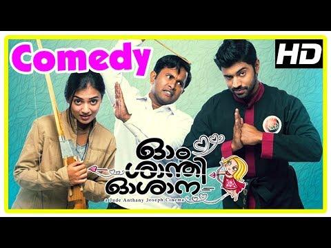 Ohm shanthi oshaana movie   full comedy scenes   nivin pauly   nazriya   aju varghese   vineeth