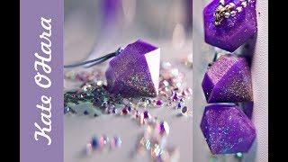 Как легко сделать кулоны кристаллы из эпоксидной смолы.