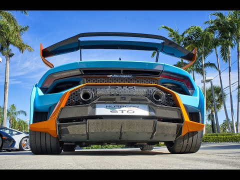 Lamborghini Huracan STO Super Trofeo Omologato $328,000 Street Legal BEAST at Lamborghini Miami