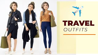 TRAVEL OUTFITS 2019   Travel Outfit Ideas Lookbook Comfy Airport Outfits   Miss Louie