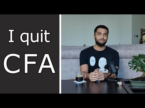 Why I quit the CFA program after passing level 1. |Chartered Financial Analyst|