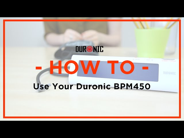 How To Measure Your Blood Pressure At Home | Duronic BPM450