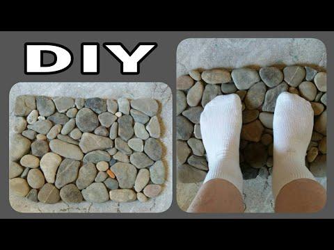 Fußmatte / Fußmassagematte aus Steinen • DIY * Julebuergerfee
